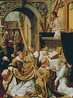 Pope St. Gregory the Great celebrates Latin Mass