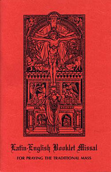 Red missal for Latin Mass
